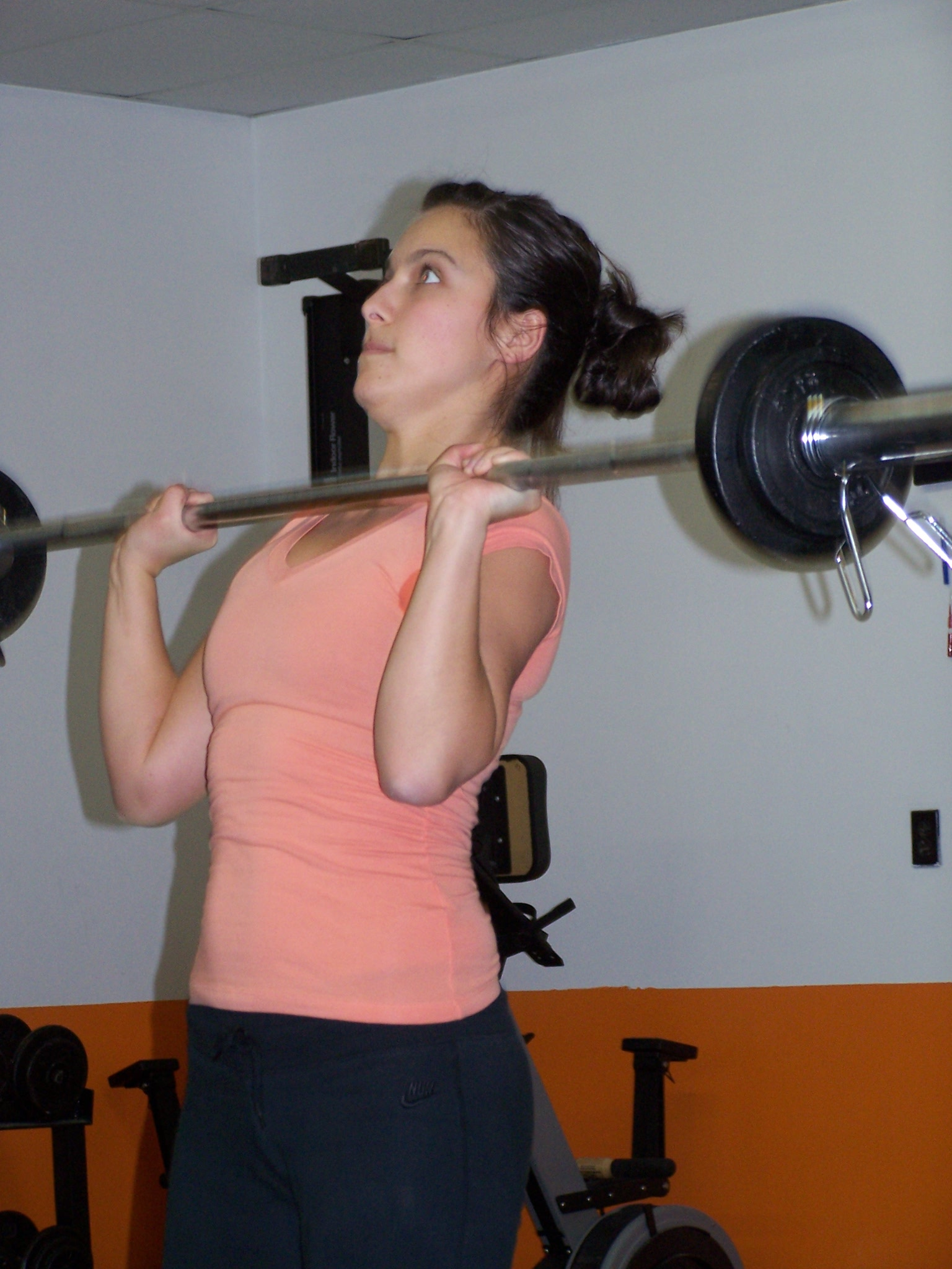 Marie-Christine working on her presses