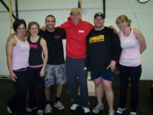 Some of the crew sporting their new CrossFit Marina gear