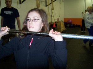 Hannah, from CF PEI, pressing up some big weight!