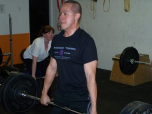 Marc, from CrossFit Oakland, ripping up some deadlifts