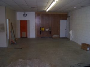 What the gym looked like on Day 1