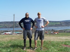 Pierre and Kevin after the 5k train run