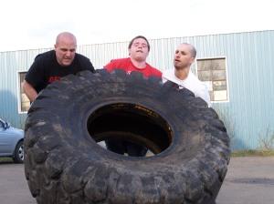 Tire flippin' fun
