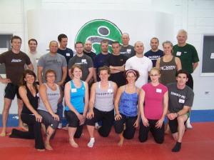 Participants at the CrossFit Gymnastics Cert.