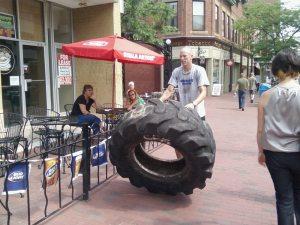 Tire Flipping Fun