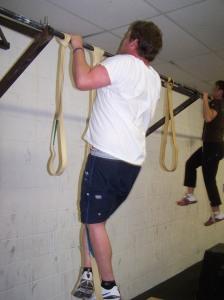 Shane working his pullups