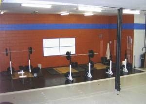 The lifting station at CrossFit Kinetics