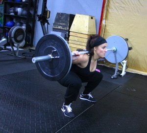 Jenn's mid-wod back squat