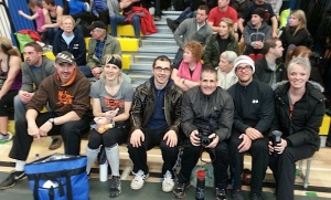 Some of our athletes and cheering section