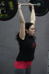 Heather puts some big weight overhead