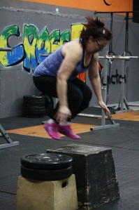 Wendy overcame her fear of box jumps!