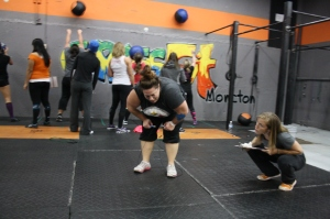 Kim gets to the double unders!