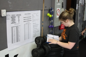 Keeping an accurate record of your strengths and workouts will help the coaches with your success
