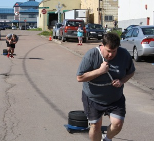Tim ad Jason pulling a TON of weight
