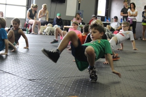 Having some fun at CrossFit Kids!