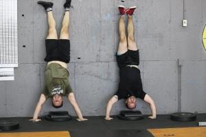 Brian and Josh hanging around