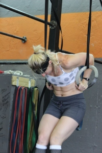 Working on the muscle-up