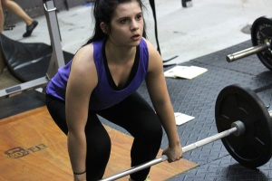 Jenna is set and ready to lift