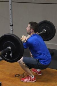 Matt gets to depth on his front squats