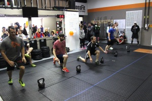 Some of the guys celebrating our grand opening WOD