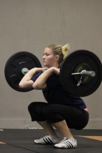 Faith has an excellent front squat