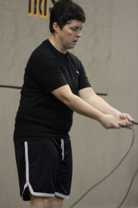 Lisa resets for another go at double unders