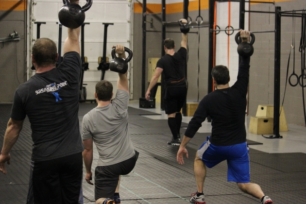 Oly class got to do some one arm lunges as a challenge