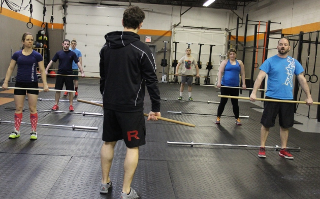 Blake leading the noon class