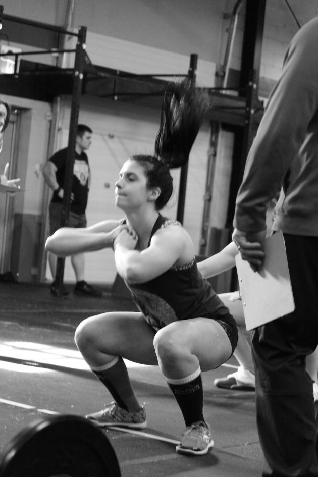 Jenna was squatting very fast!