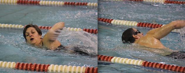 Heidi and Marcel - swimming machines!
