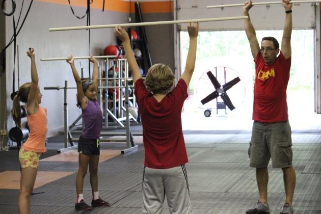 The CF Kids lifting class